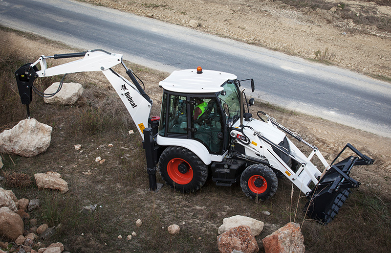 a broad range of optional equipment transforms the b750 into a highly versatile backhoe loader